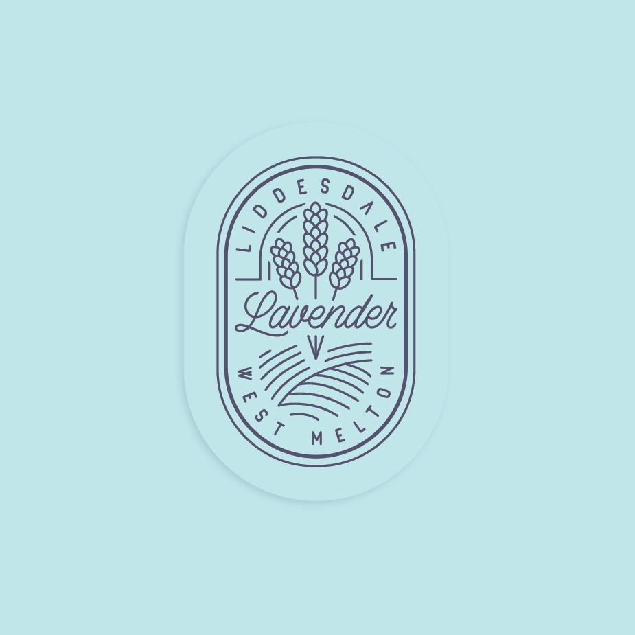 Clockwise work sample Liddesdale Lavendar Logo Design Link