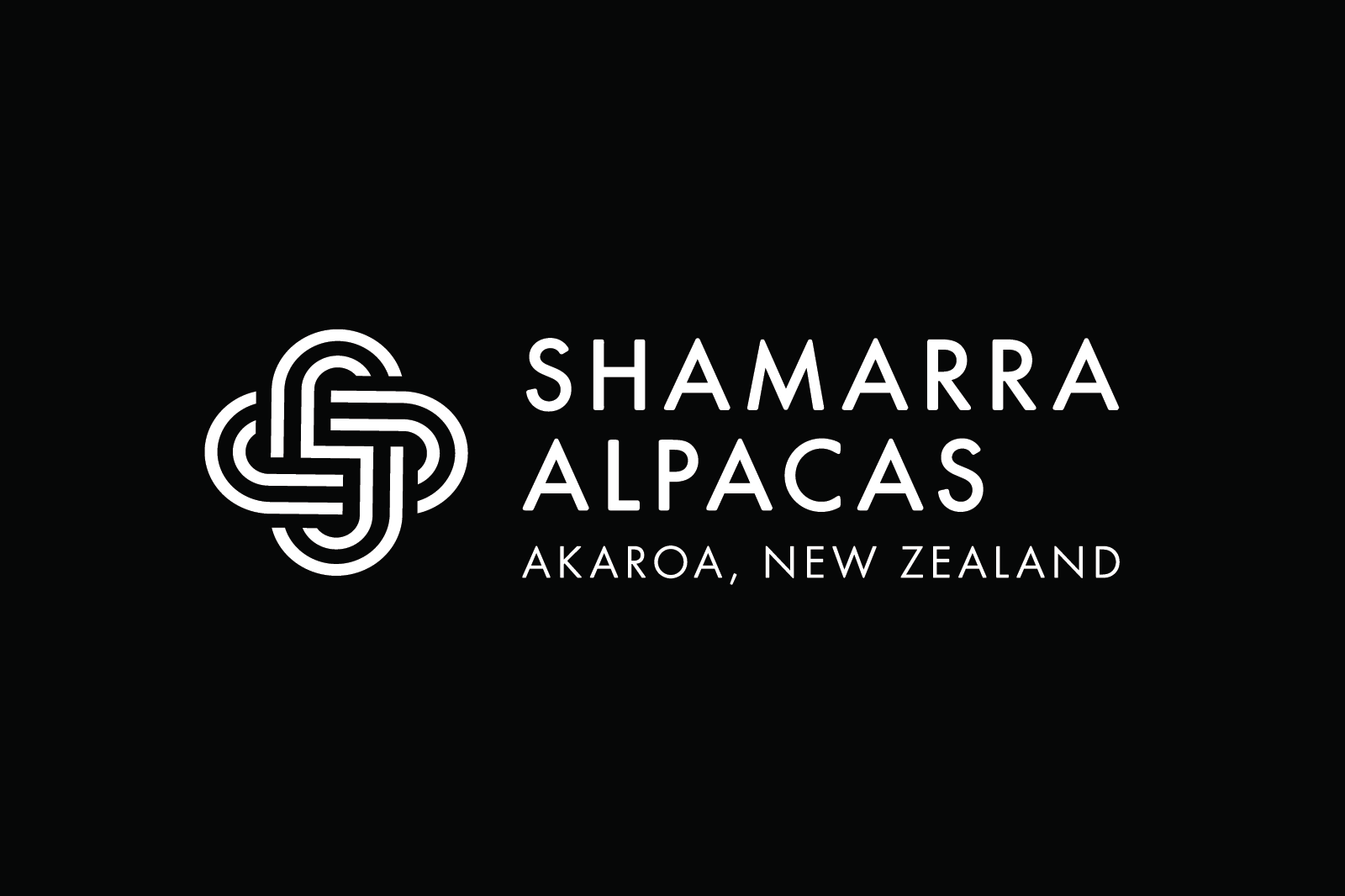 Shamarra Alpacas Logo Design Black
