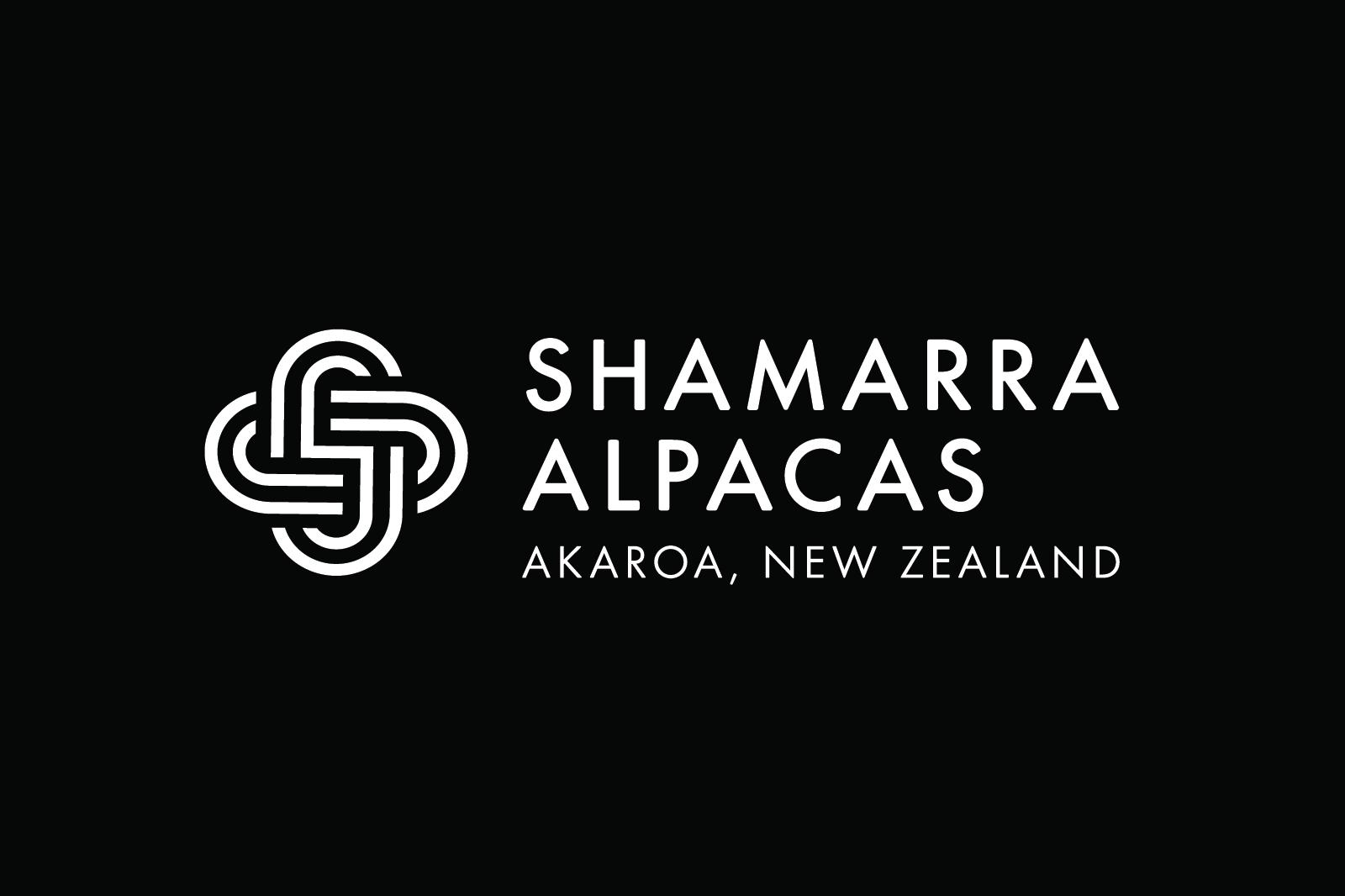 Shamarra Alpacas Logo Design Black
