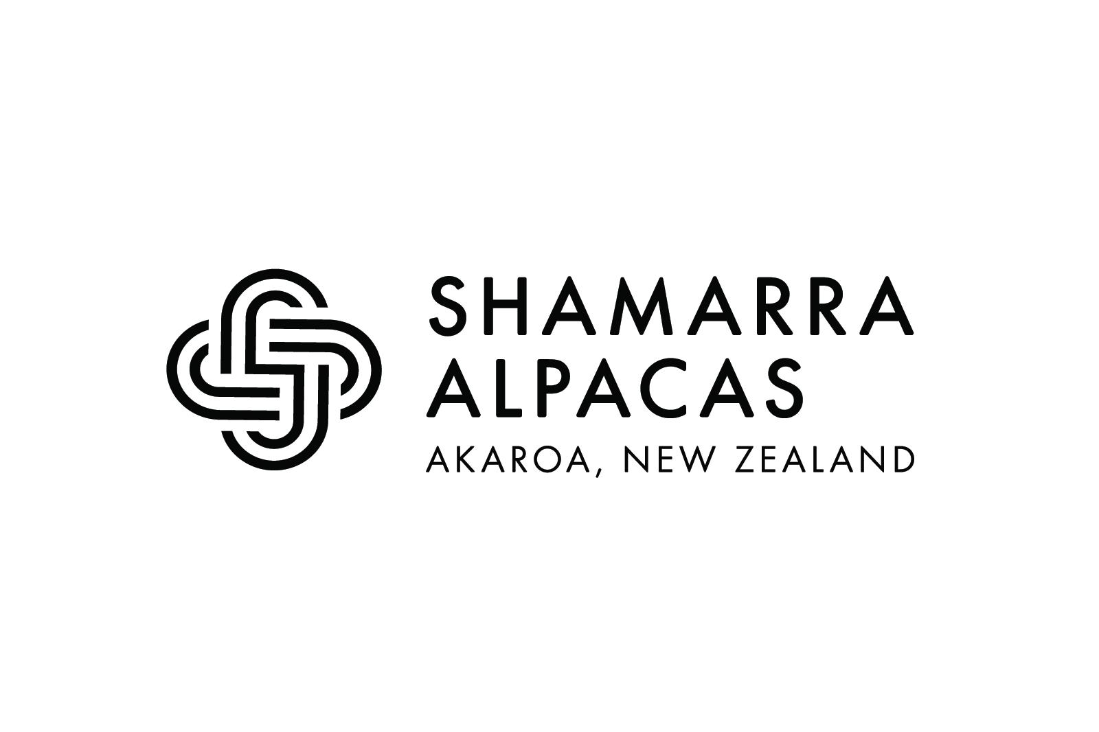 Shamarra Alpacas Logo Design White